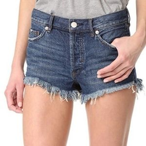 FP Soft & Relaxed Button Fly Cutoff Denim Shorts